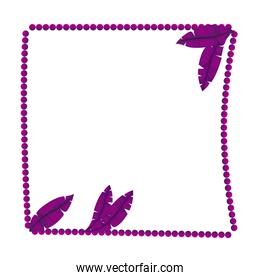 frame balls mardi gras with feathers