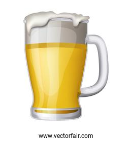 fresh beer isolated icon