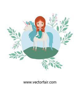 mermaid with unicorn in the camp