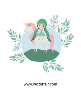fairy with unicorn in the camp