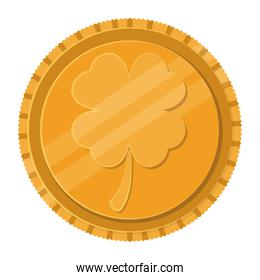 coin with clover icon