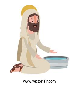 Jesus with water pot