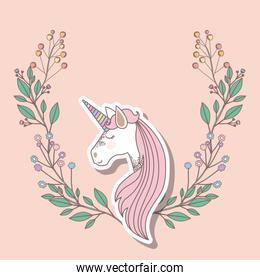 invited birthday party card with unicorn