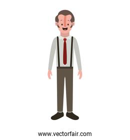 man with old suit with necktie