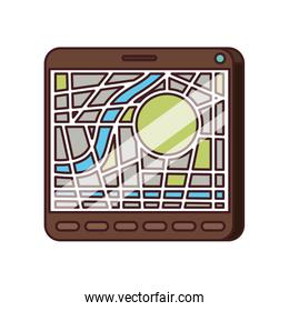 isometric tablet with gps app