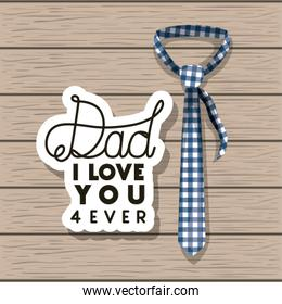 happy fathers day card with elegant tie