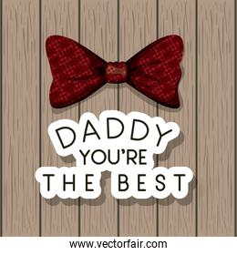 happy fathers day card with elegant bowtie