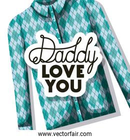happy fathers day card with elegant shirt