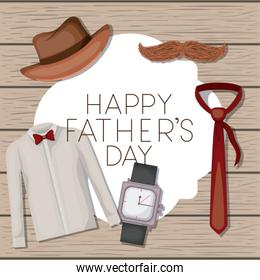 fathers day card with accessories