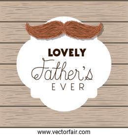happy fathers day card with mustache