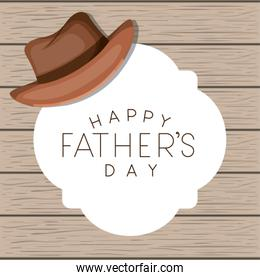 fathers day card with elegant hat