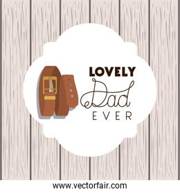 happy fathers day card with elegant belt