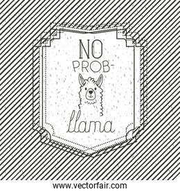 no problem message with hand made font
