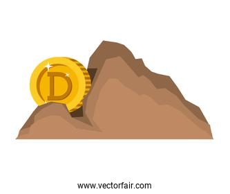 cryptocurrency dogecoin money in mountain mining