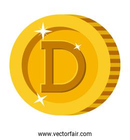 cryptocurrency dogecoin coin isolated icon