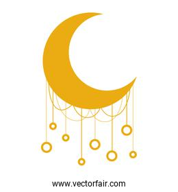 moon crescent with decoration hanging