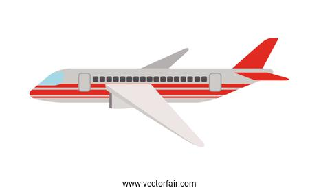 airplane flying isolated icon