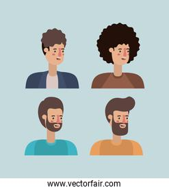 group of men characters