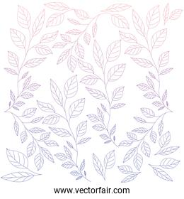 branches with leafs pattern background