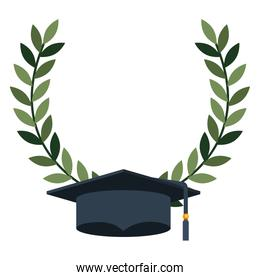 hat graduation with wreath crown