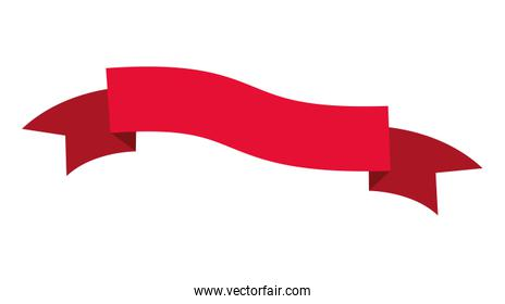 single and classic red ribbon frame