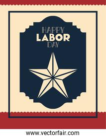happy labor day with star