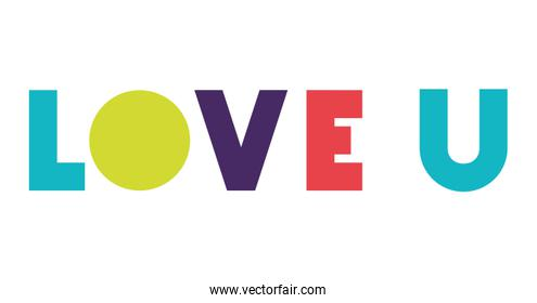 love message with hand made font
