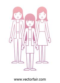 group of women characters