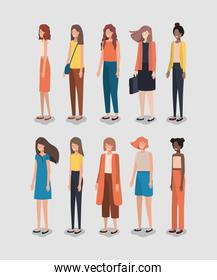 group of women friends characters