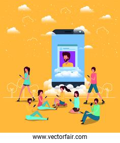 social community with smartphone