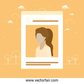picture of woman in acount template
