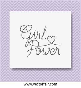card with powerful message hand made font