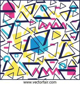 geometric figures colors ninetys patterns