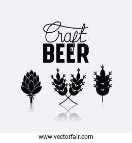craft beer leafs icons