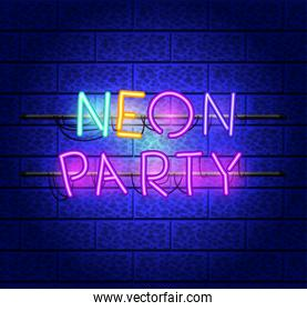 party fonts neon lights