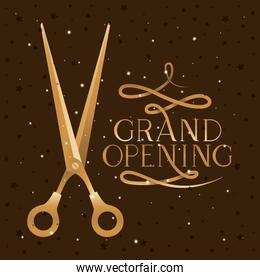 Scissor and grand opening design vector illustration