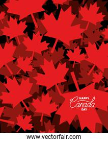 Canada day with maple leaf design