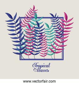 Tropical flowers design