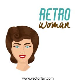 Retro woman design