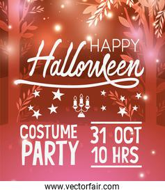 Halloween party card design ,vector illustration