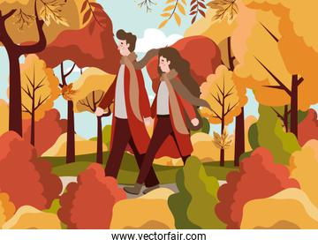 Family and autumn season design