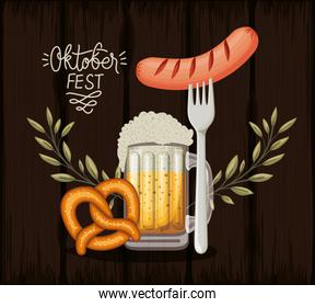 Oktoberfest design, Beer Festival illustration