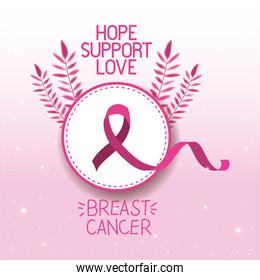 Breast Cancer Awareness ribbon campaign