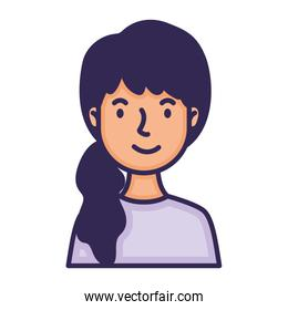 woman with horsetail character fill style