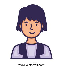 woman avatar character fill style