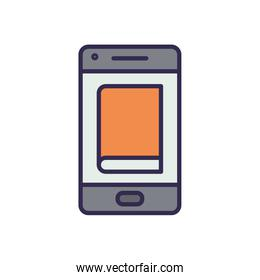 electronic book in smartphone icon