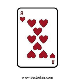 eight of hearts french playing cards related icon image