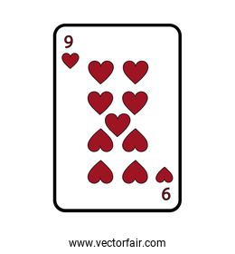 nine of hearts french playing cards related icon image
