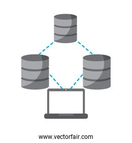 laptop technology data base center connection storage and process