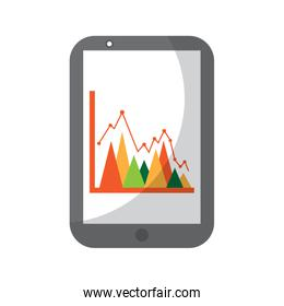 mobile business graph chart device technology